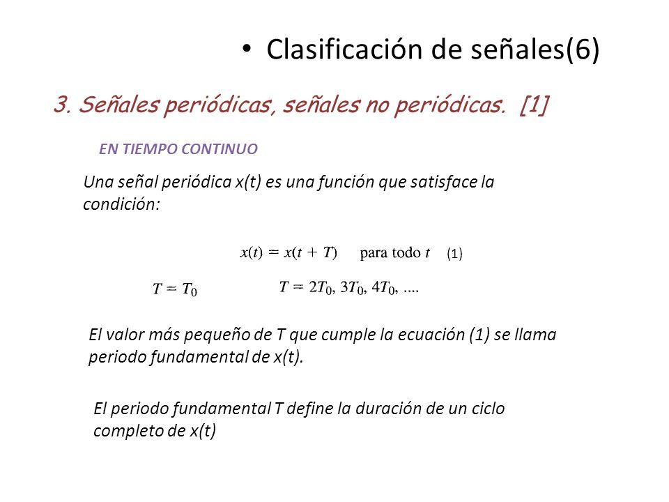Clasificación de señales(6)