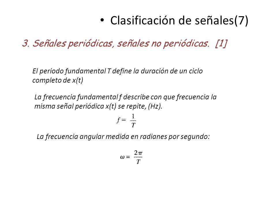 Clasificación de señales(7)