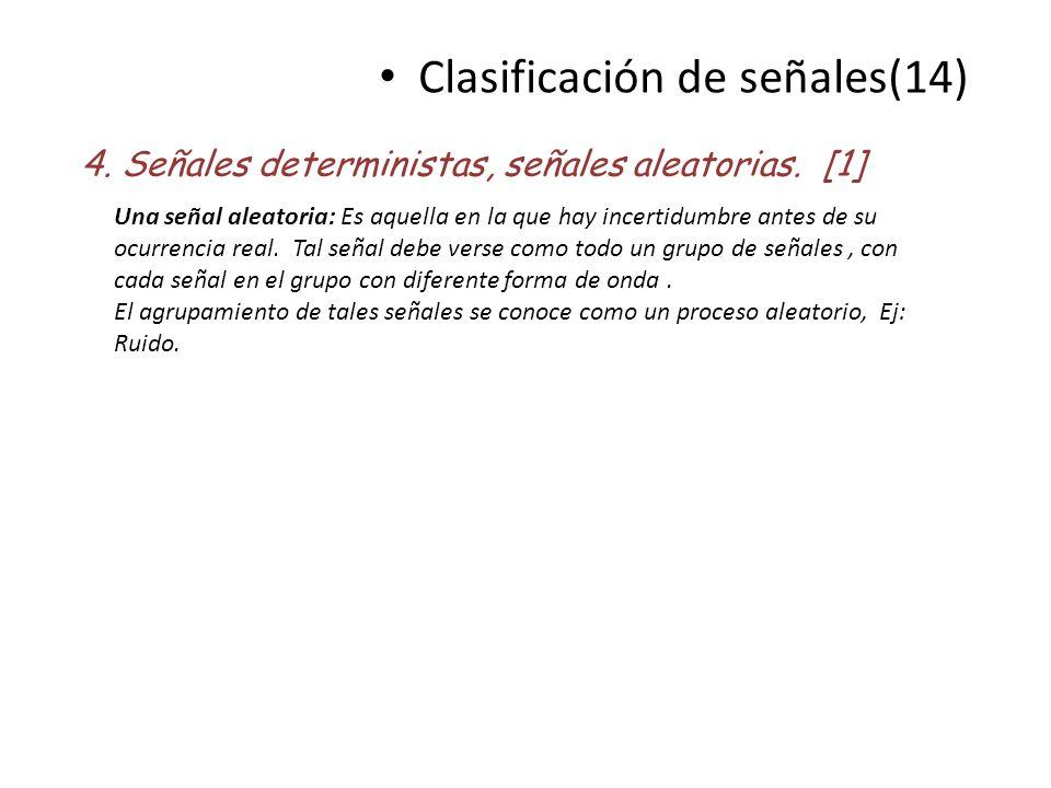 Clasificación de señales(14)