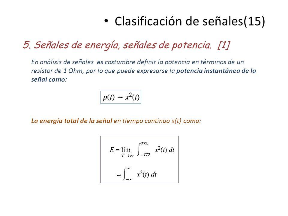 Clasificación de señales(15)