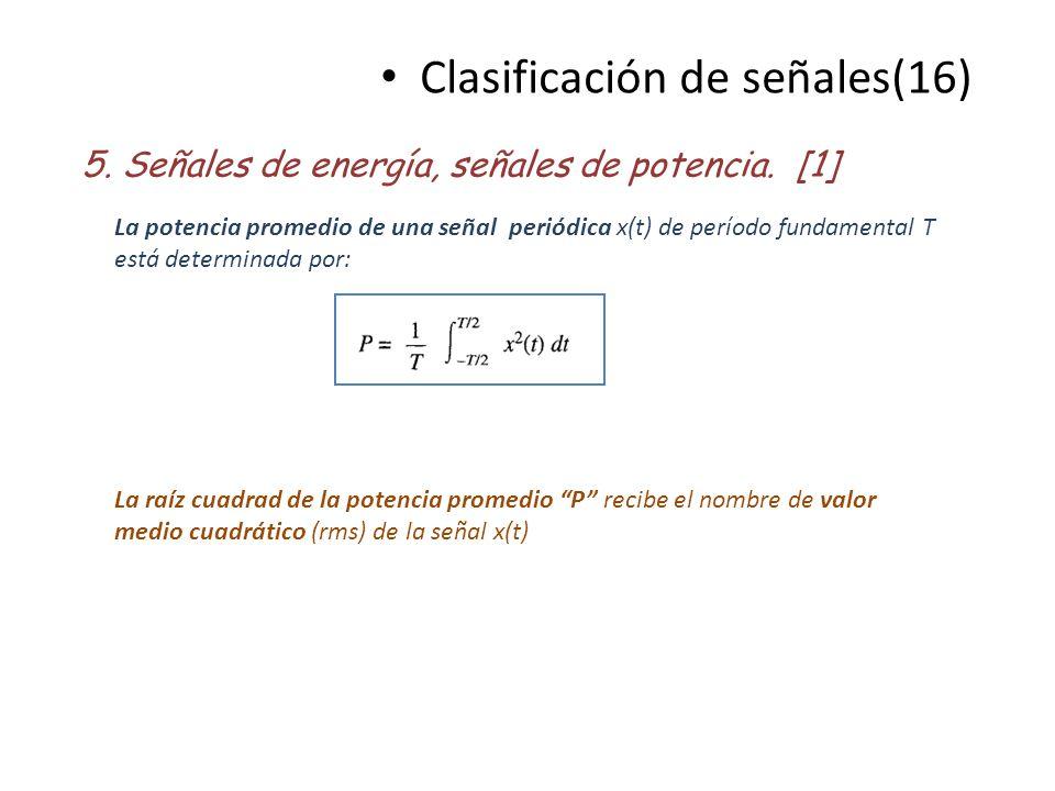 Clasificación de señales(16)