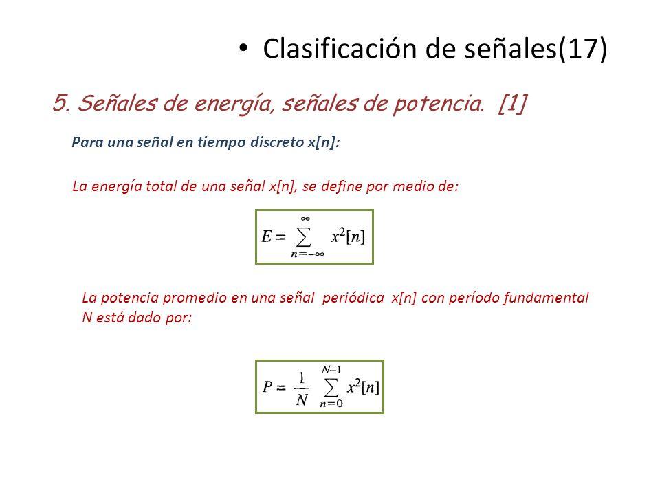 Clasificación de señales(17)