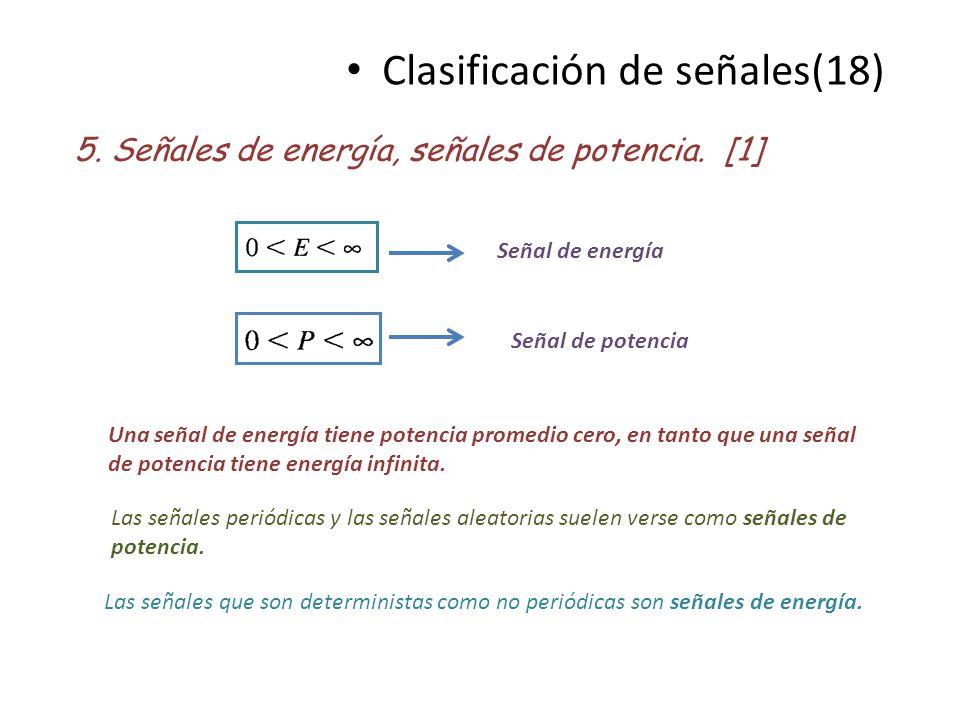 Clasificación de señales(18)