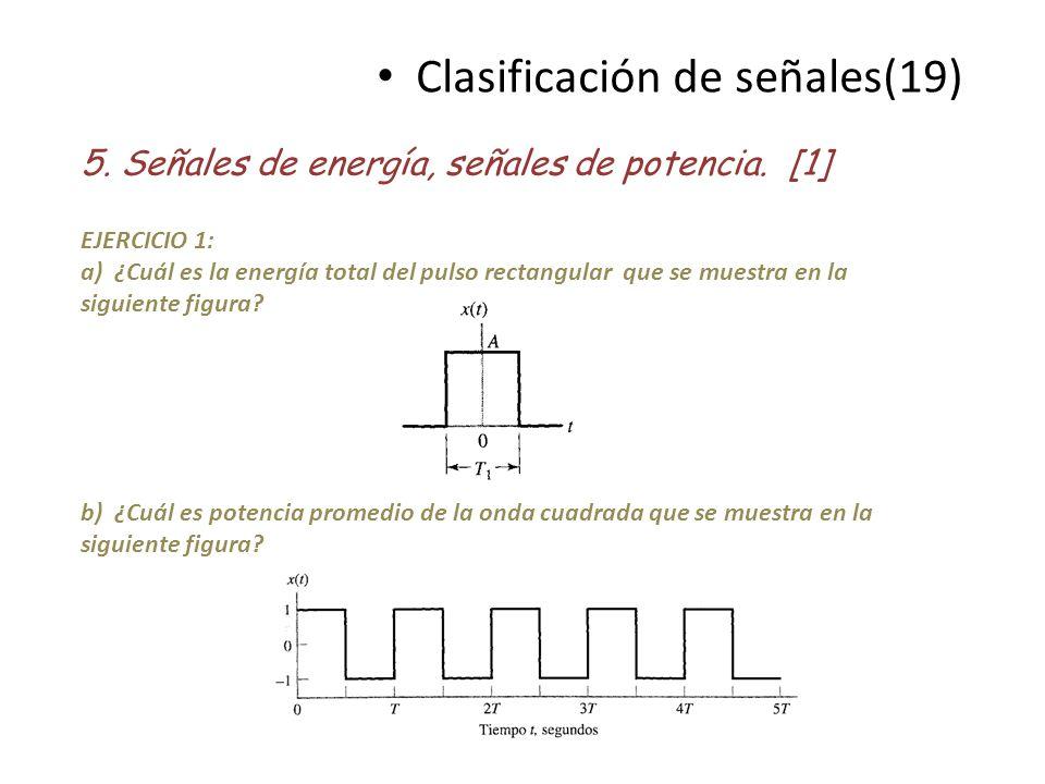 Clasificación de señales(19)