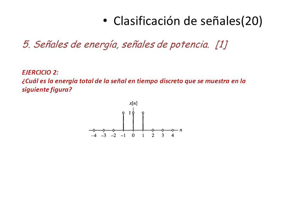 Clasificación de señales(20)