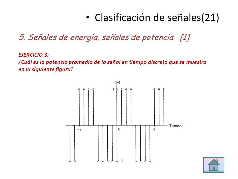 Clasificación de señales(21)