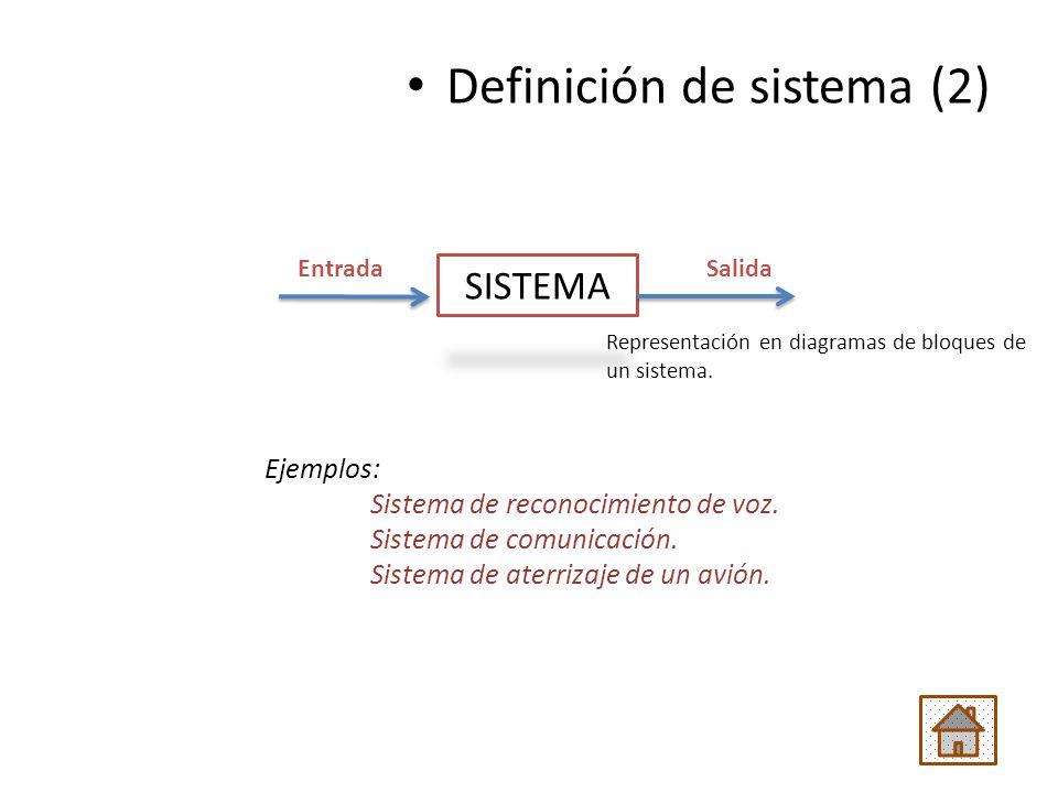 Definición de sistema (2)