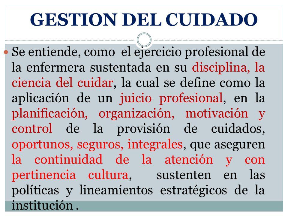 GESTION DEL CUIDADO