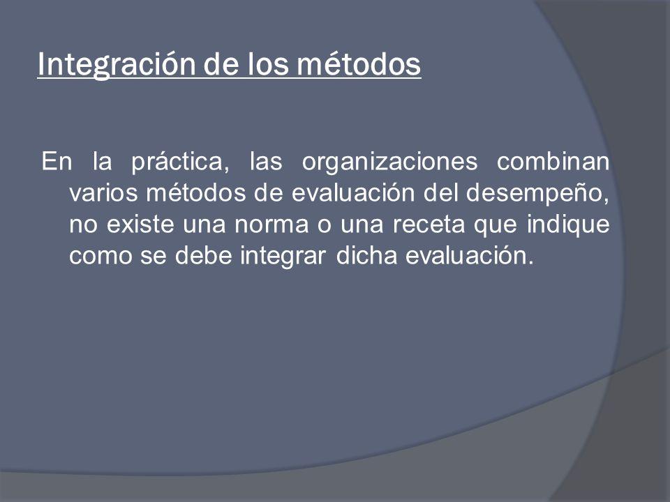 Integración de los métodos