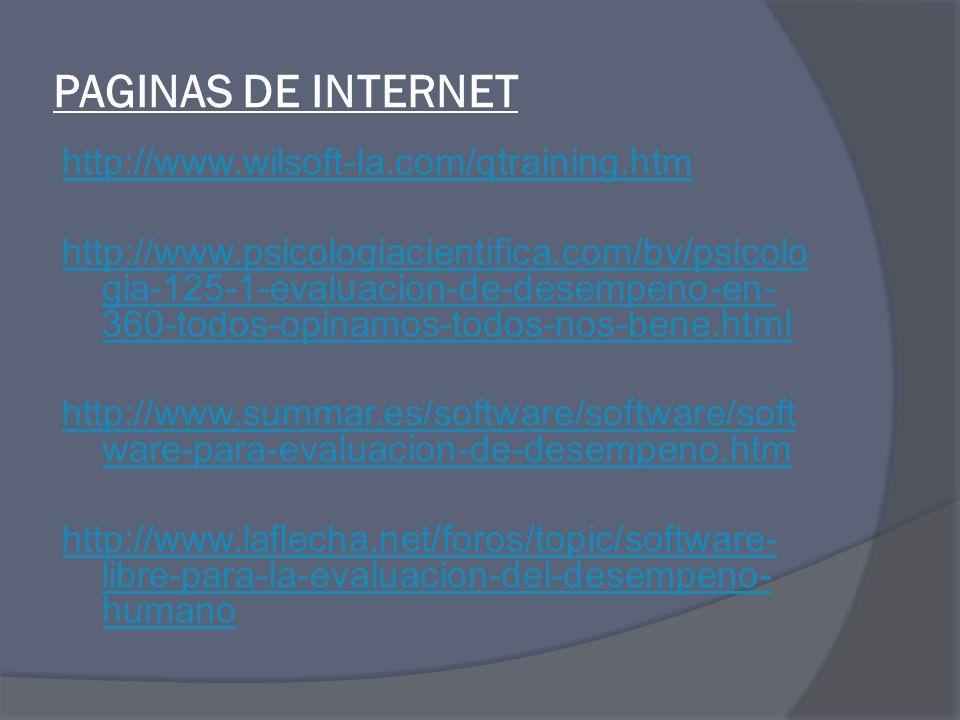 PAGINAS DE INTERNET