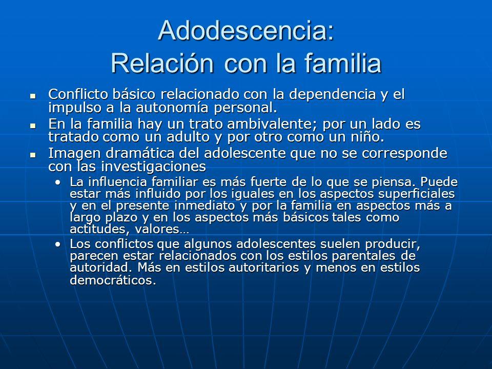 Adodescencia: Relación con la familia
