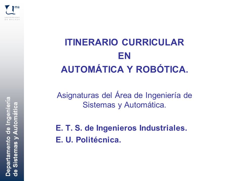 ITINERARIO CURRICULAR