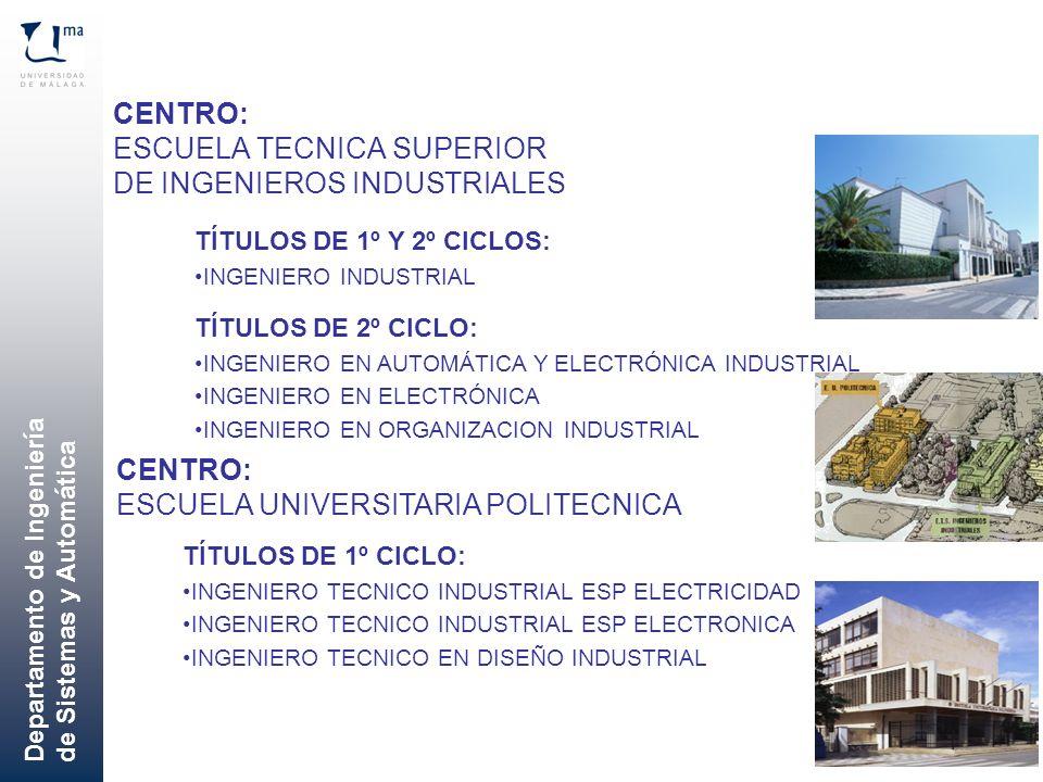 CENTRO: ESCUELA TECNICA SUPERIOR DE INGENIEROS INDUSTRIALES
