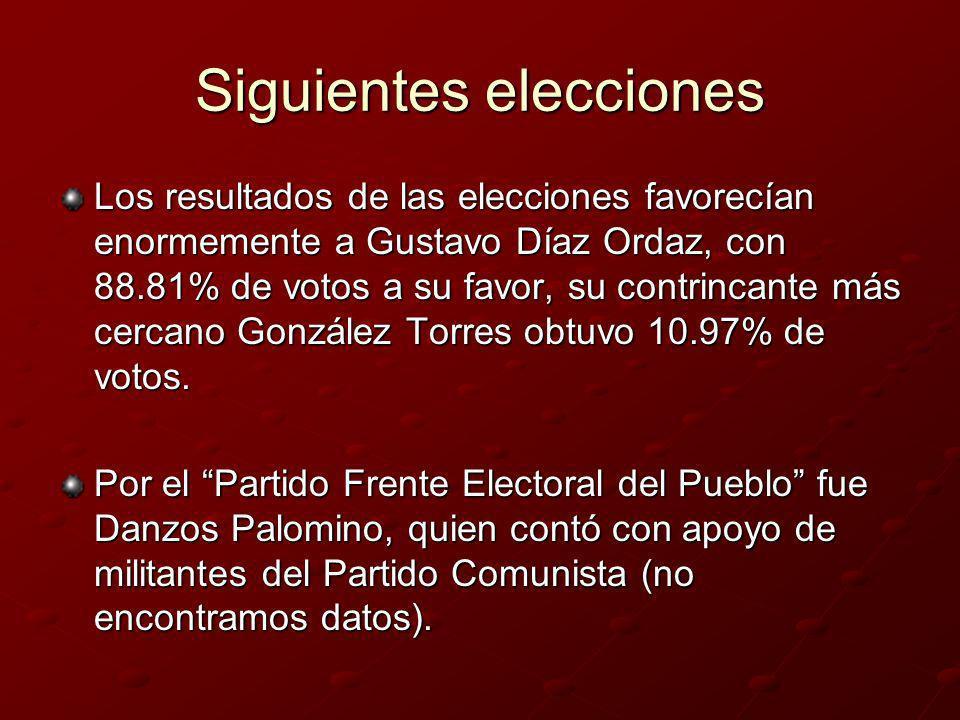 Siguientes elecciones