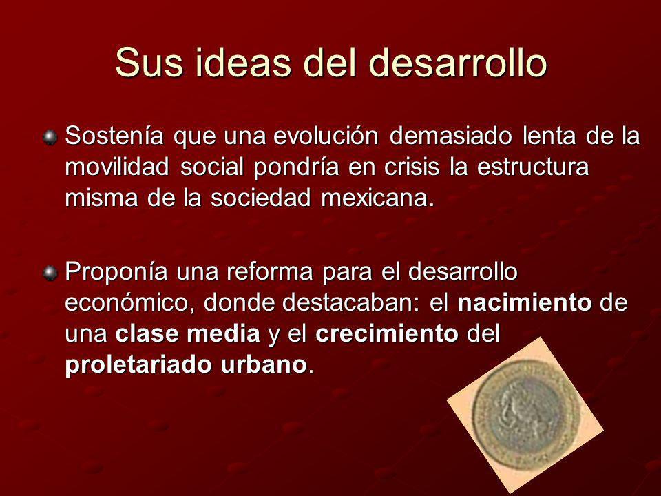 Sus ideas del desarrollo