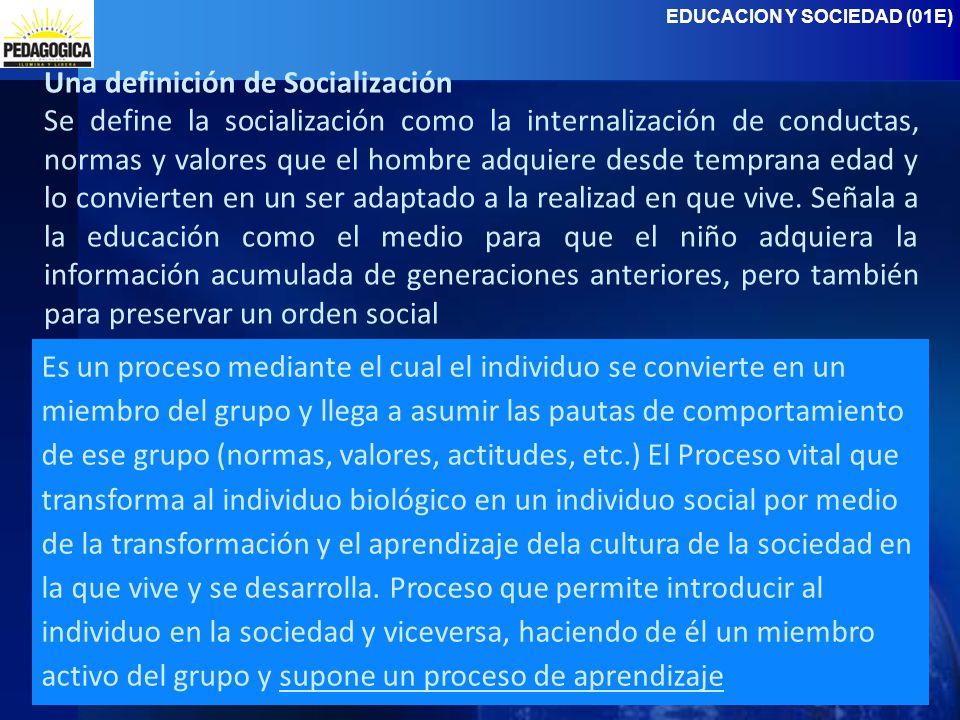 Una definición de Socialización