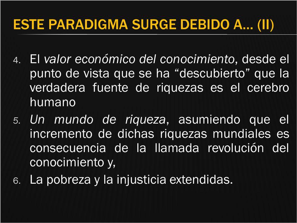 Este paradigma surge debido a… (II)