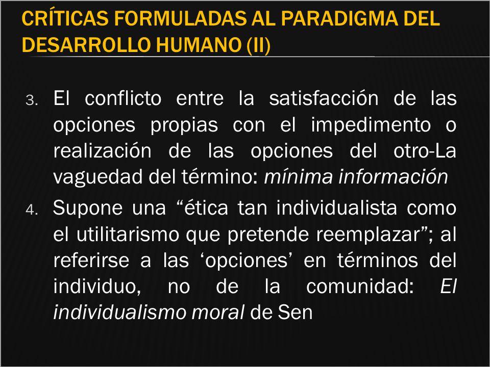 Críticas formuladas al paradigma del Desarrollo Humano (II)