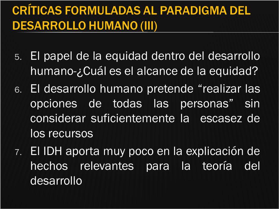 Críticas formuladas al paradigma del Desarrollo Humano (III)