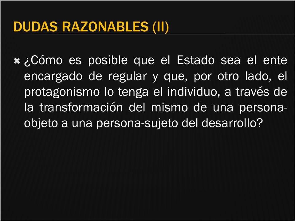 Dudas razonables (II)