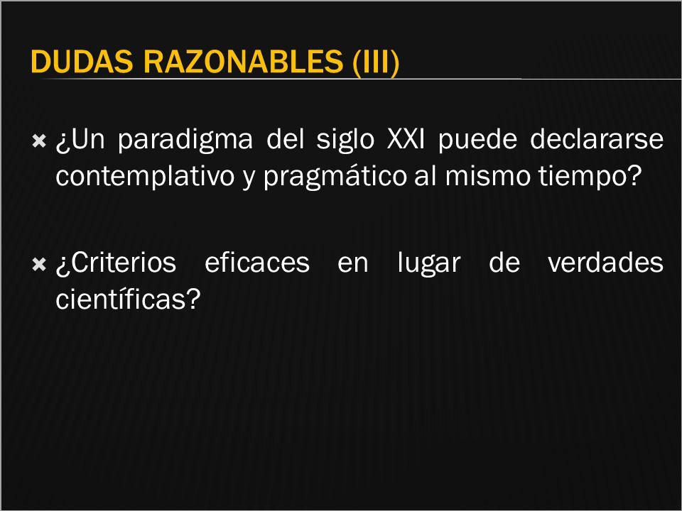 Dudas razonables (III)