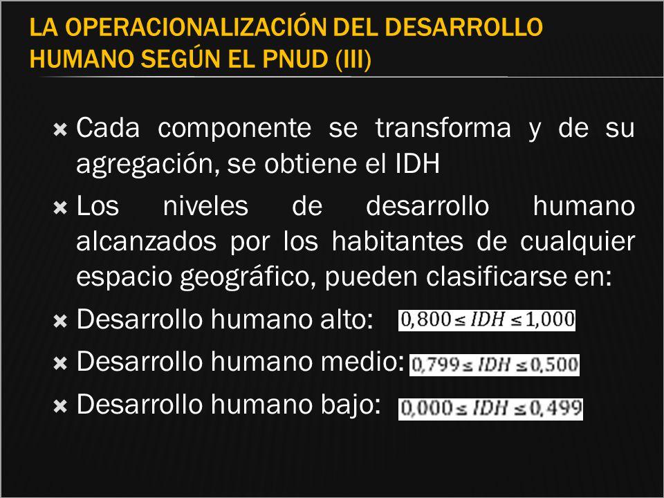 La operacionalización del desarrollo humano según el PNUD (III)