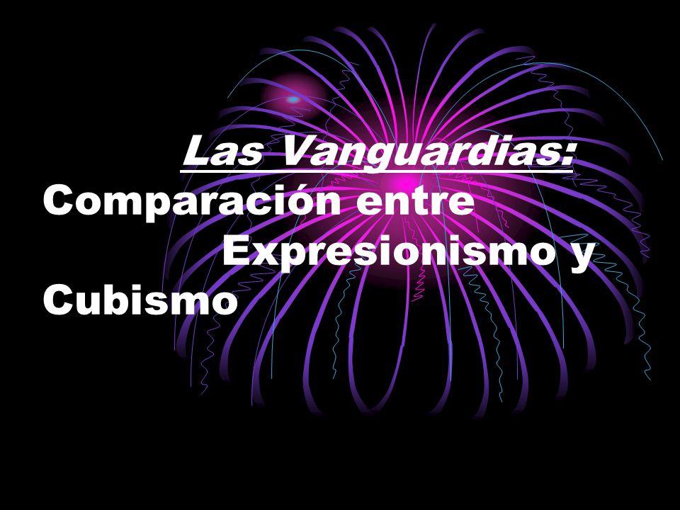 Las Vanguardias: Comparación entre Expresionismo y Cubismo