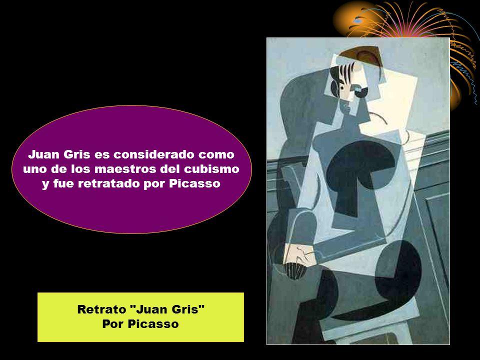 Juan Gris es considerado como uno de los maestros del cubismo