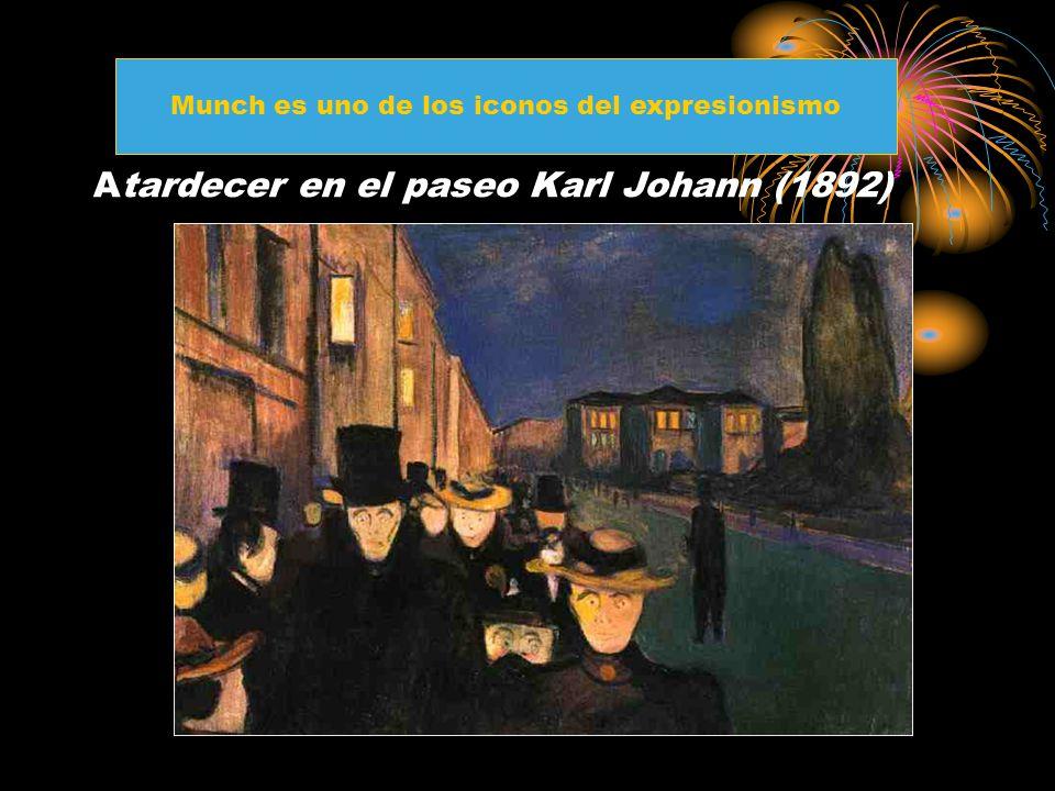 Atardecer en el paseo Karl Johann (1892)