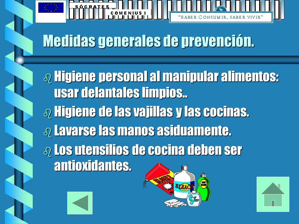 Medidas generales de prevención.
