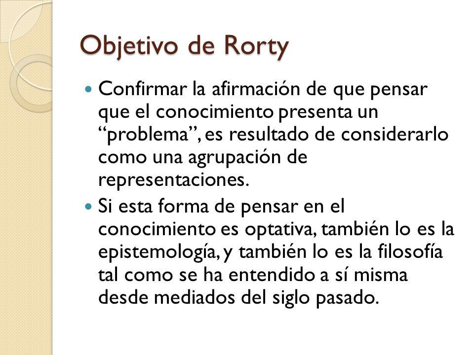 Objetivo de Rorty
