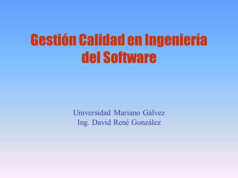 Gestión Calidad en Ingeniería del Software