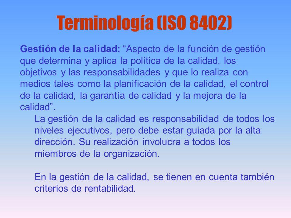 Terminología (ISO 8402)