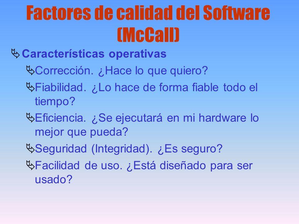 Factores de calidad del Software (McCall)