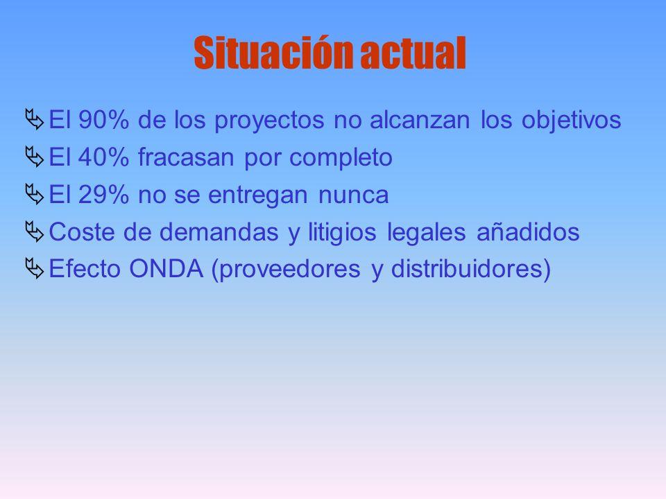 Situación actual El 90% de los proyectos no alcanzan los objetivos