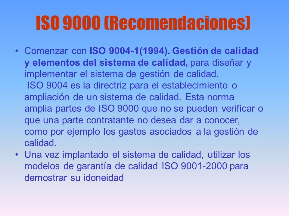 ISO 9000 (Recomendaciones)