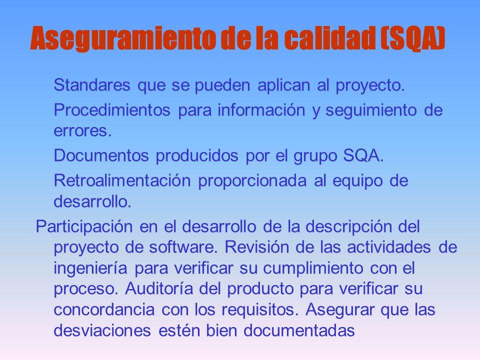 Aseguramiento de la calidad (SQA)