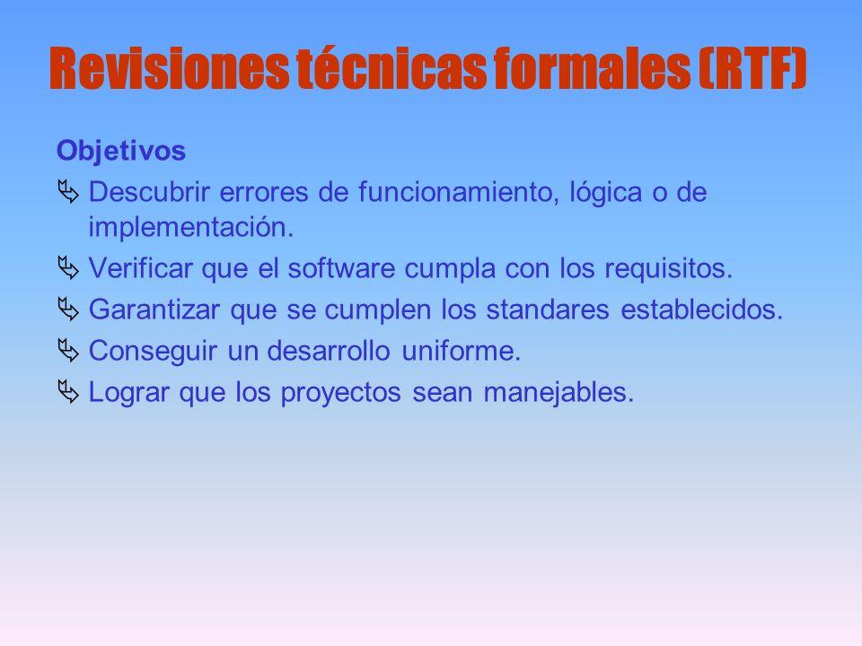 Revisiones técnicas formales (RTF)