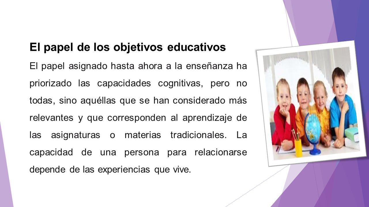 El papel de los objetivos educativos