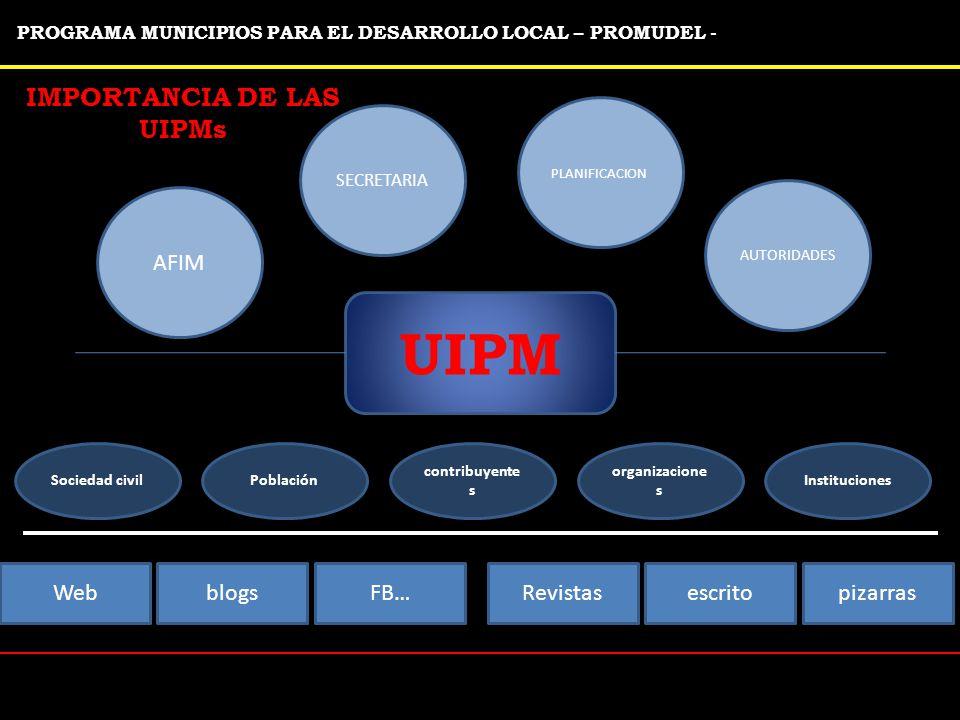 IMPORTANCIA DE LAS UIPMs