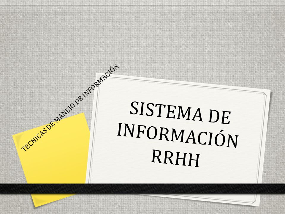 SISTEMA DE INFORMACIÓN RRHH