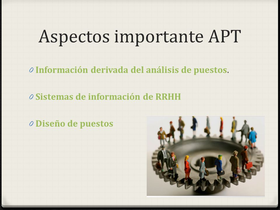 Aspectos importante APT