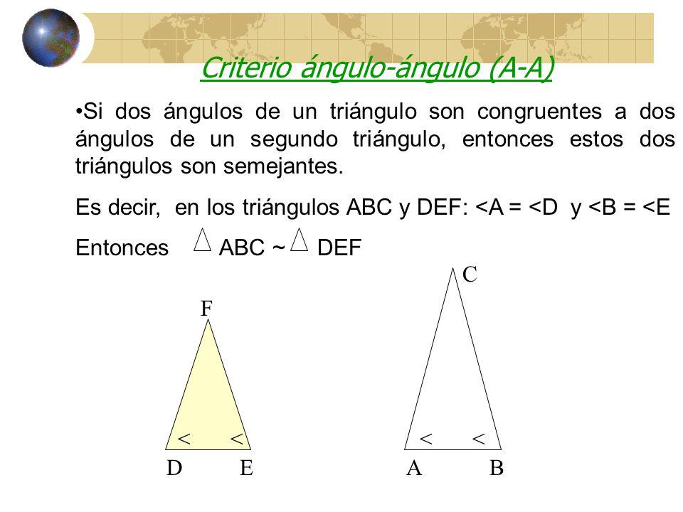 Criterio ángulo-ángulo (A-A)