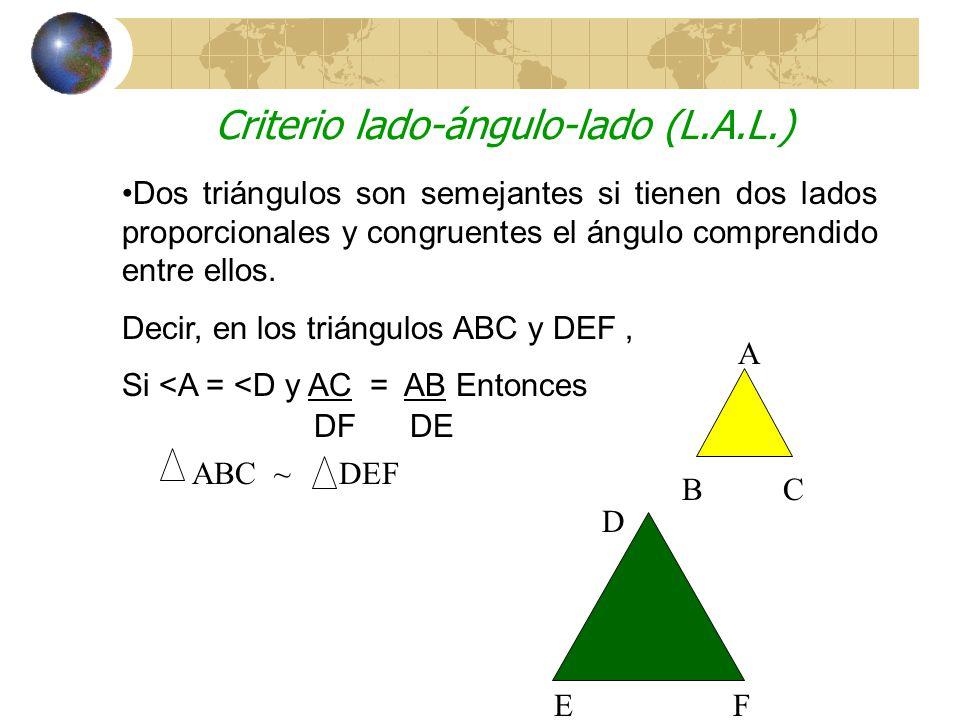 Criterio lado-ángulo-lado (L.A.L.)