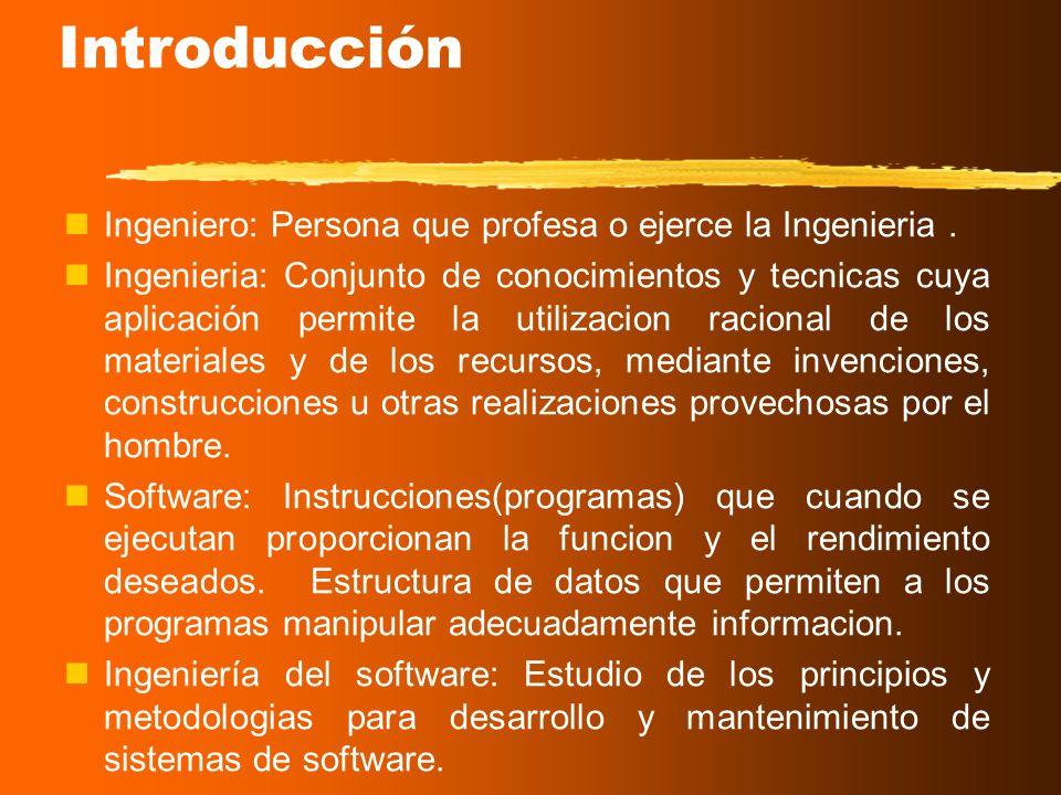 Introducción Ingeniero: Persona que profesa o ejerce la Ingenieria .