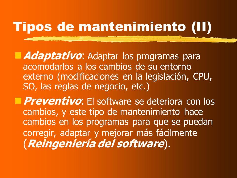 Tipos de mantenimiento (II)