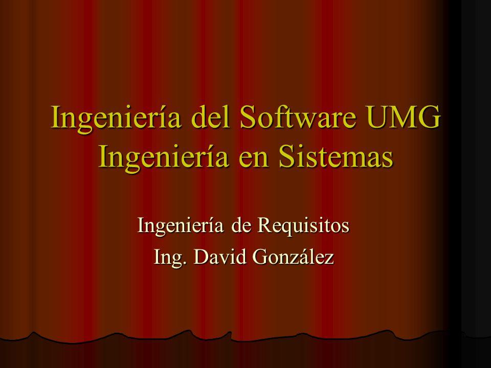 Ingeniería del Software UMG Ingeniería en Sistemas