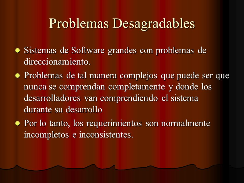 Problemas Desagradables