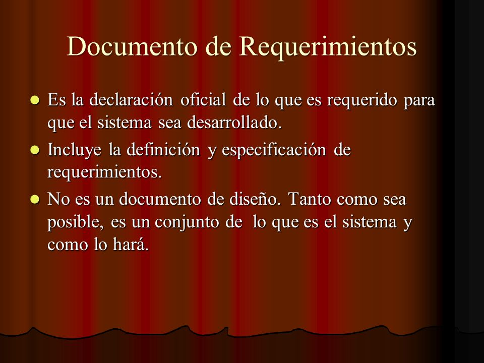 Documento de Requerimientos