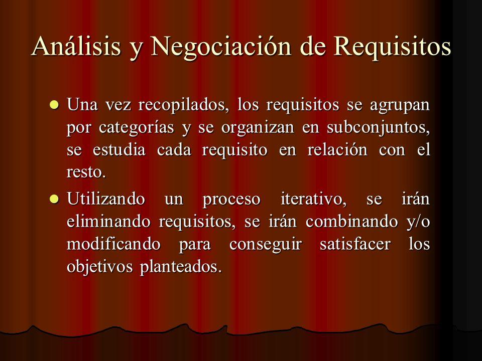 Análisis y Negociación de Requisitos